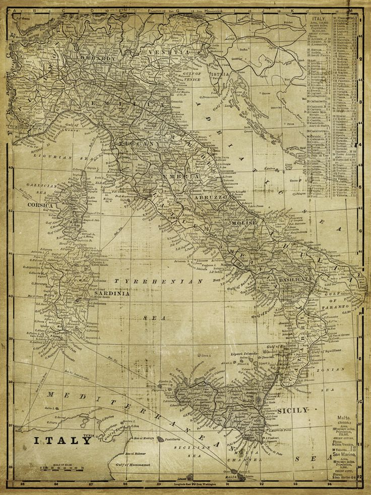 'Antique Map of Italy' Graphic Art on Wrapped Canvas
