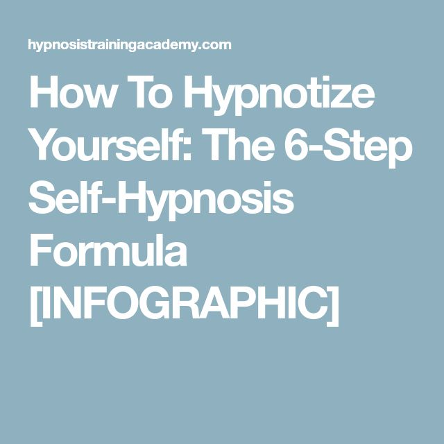 20 best art illustrations images on pinterest hypnotherapy book how to hypnotize yourself the 6 step self hypnosis formula infographic fandeluxe Choice Image