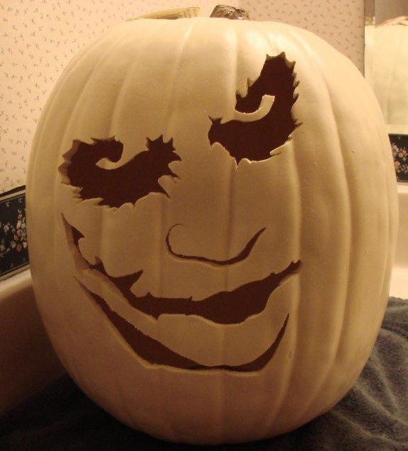 Pics For > Joker Pumpkin Carving Ideas