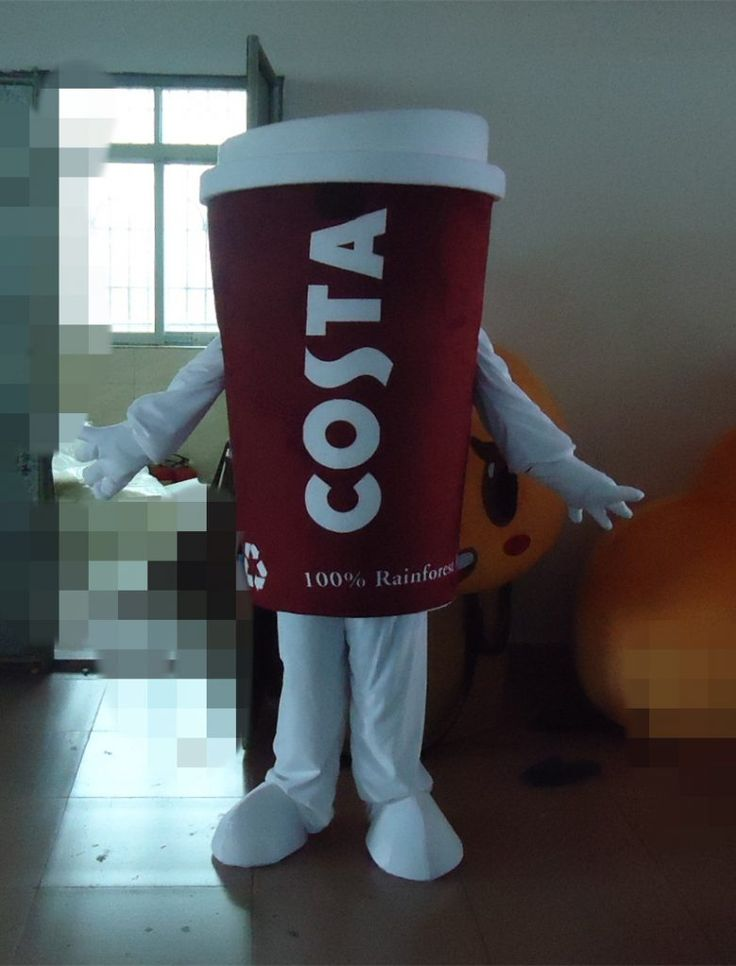 OISK Custom Coffee Cup Mascot Costumes Christmas Birthday Party Womens Mens Mascots Suit Fancy Dress Carnival Outfit Adult Size