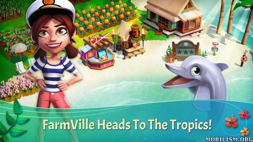 FarmVille: Tropic Escape v1.3.365 [Mod]Requirements: 4.0.3+Overview: Escape to an island getaway filled with adventure, mystery, and fun new mini games in this colorful free-to-play game from the makers of FarmVille, the...