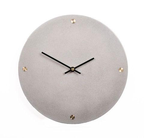 Concrete Clock - Light Grey