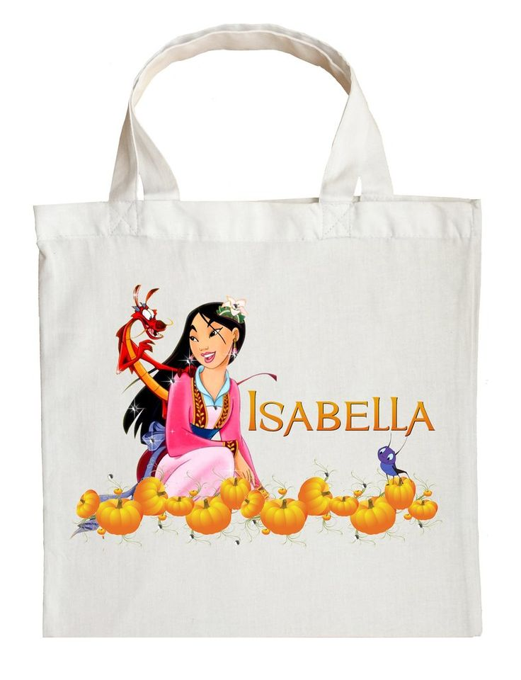 Mulan Trick or Treat Bag - Personalized Mulan Halloween Bag #custom-Mulan-halloween-bag #custom-Mulan-trick-or-treat-bag #Mulan-halloween-bag