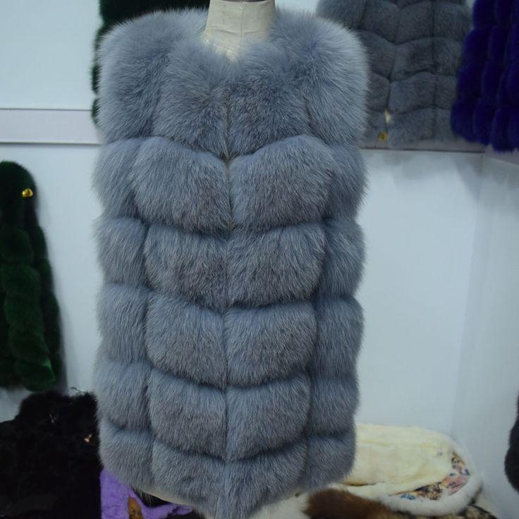 70CM Real Fur Vest 2016 Winter Thick Silver Fur Coat Jackets for Women Sleeveless Medium Long Genuine Fur Vest Colete De Pele-in Fur & Faux Fur from Women's Clothing & Accessories on Aliexpress.com | Alibaba Group