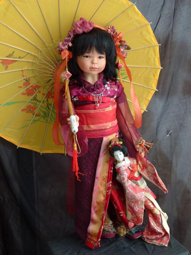 Vinyl doll, 75 cm, OOAK, made in Switzerland