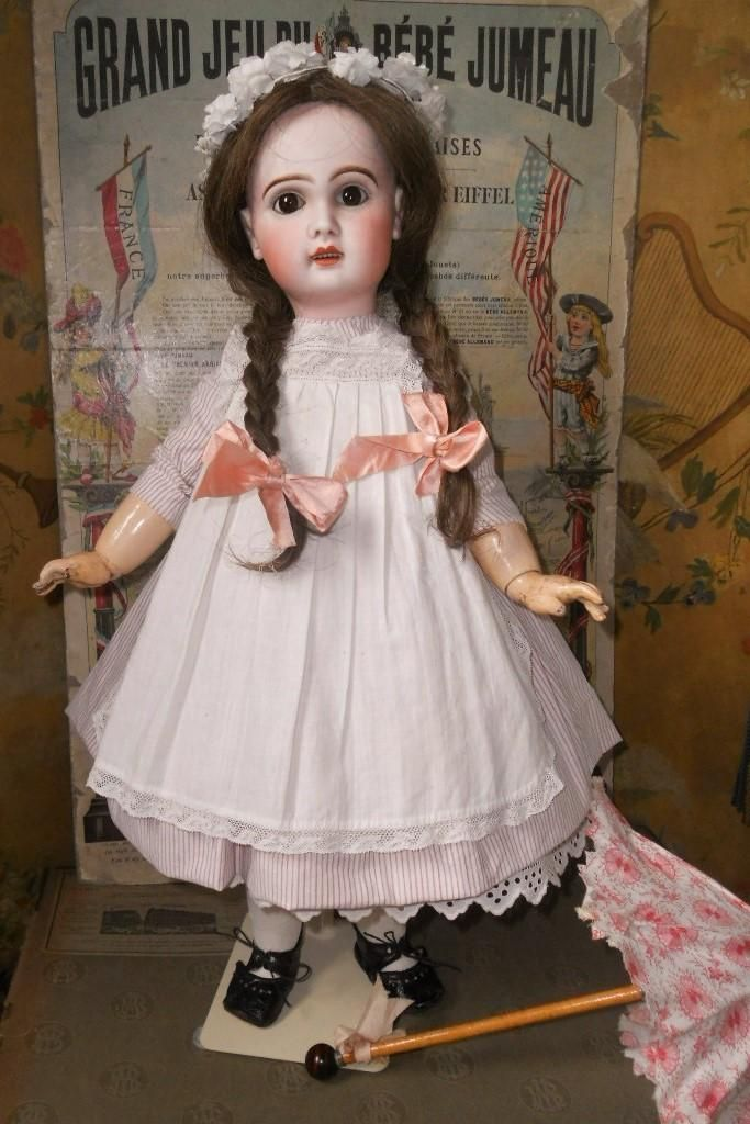 ~~~Lovely French Bisque Girl by Jumeau ~~~ from whendreamscometrue on Ruby Lane