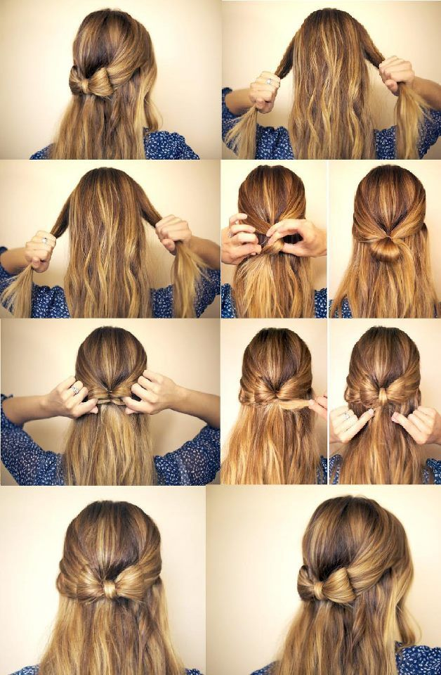 DIY: bow hair - Pretty sure I'd screw this up somehow, but oh well. Worth a try! FOR THE LOVE OF BOWS!