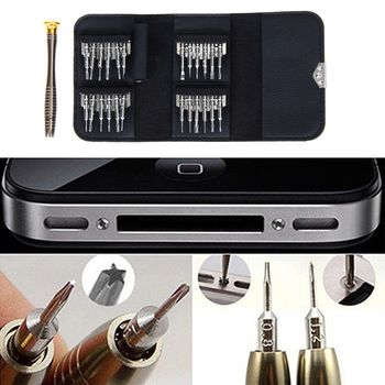 25 in 1 Screwdriver Set First-aid Kit Repair Opening Tools Pentalobe Torx Phillips Screwdrivers Kit for iPhone PC Camera Watch  Price: 4.72 USD
