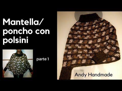 Mantella Con Polsini Parte 1 Youtube Mio Lavoro Crochet