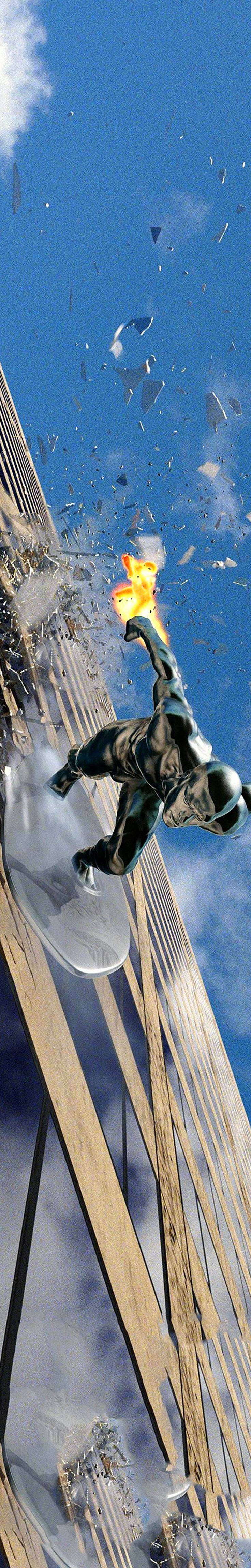 Silver Surfer - I used to imagine surfing this building when I lived in the city back in the 80's.    In the Rise of the Silver Surfer- The Fantastic Four 2007 the Silver Surfer drops in on the W.R. Grace Building at 1114 42nd Street btwn 5th & 6th Ave,