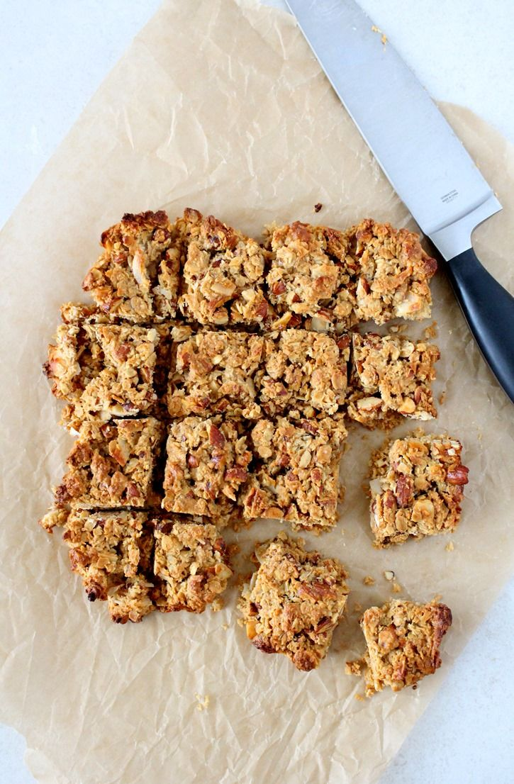 Almond Coconut Oat Bars | The Wheatless Kitchen
