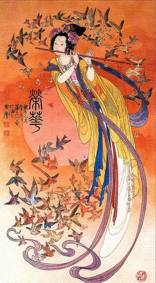 Chinese painting Cuaderno de retazos