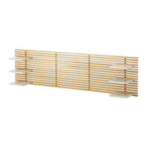 MANDAL ヘッドボード IKEA 可動棚付き。幅160cmまでのベッドと組み合わせて使えます MANDAL/マンダール ベッドフレーム 収納ボックス付きと組み合わせて使えます 壁のお好きな高さに取り付けて使えます 壁に取り付けて使用します。床を広々と使えます