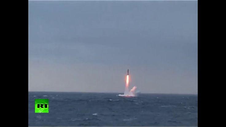 Video: Submarino nuclear ruso prueba el misil intercontinental Bulavá