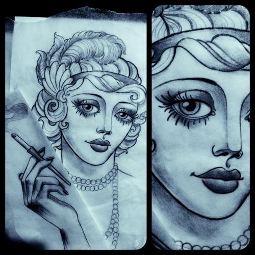 Flapper tattoo