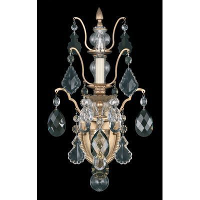 Schonbek Bordeaux 1 Light Wall Sconce Crystal Type: Legacy Clear, Base Finish: Textured Bronze