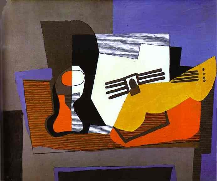 Picasso- Still Life with Guitar. 1921. Oil on canvas.