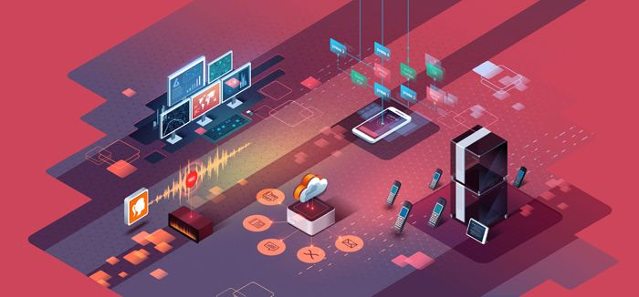 Alexander Efimov illustrated this piece for Voxtronic web site to explain what range of communication services they offer.