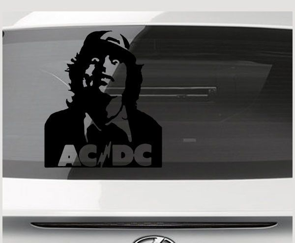 Acdc head band decal music band stickers rock band vinyl decals