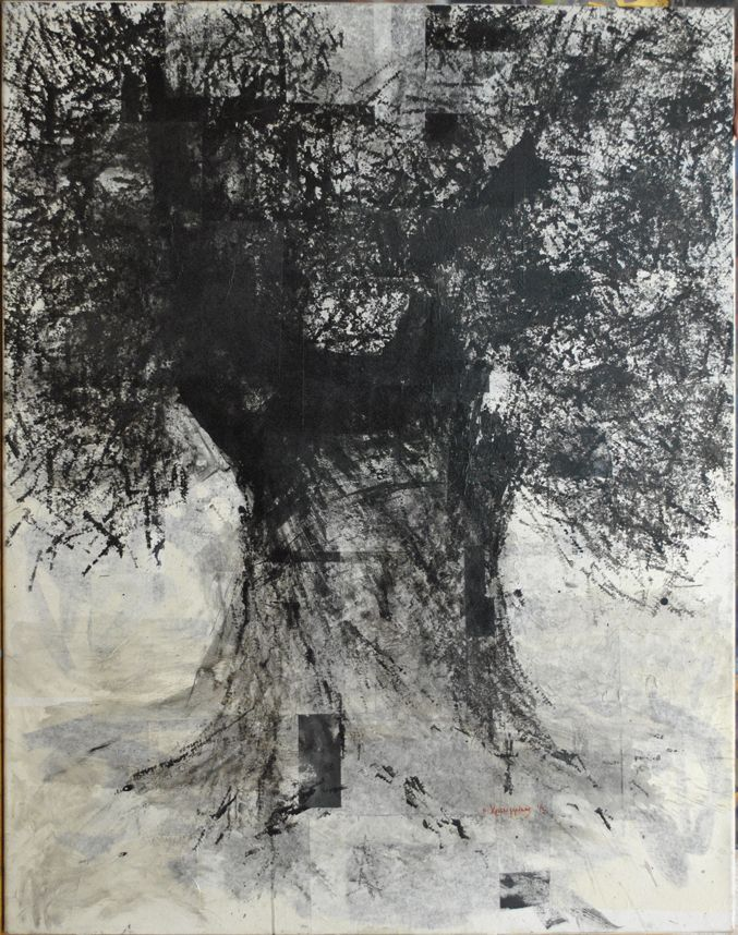 Untitled  Original painting by Nikos Christoforakis Ink on canvas Size: 140x110cm