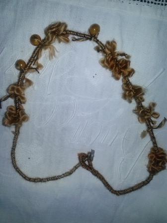 collana lana e ceramiche