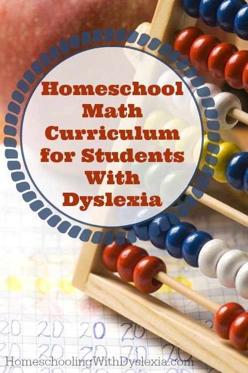 Homeschooling with Dyslexia Tips, tricks, curriculum and other resources for teaching math to dyslexic students.(from Marianne Sunderland)