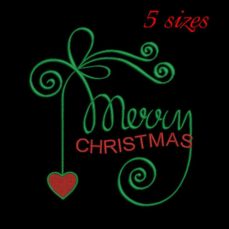Merry Christmas embroidery design,Happy new year,love design,pattern,holidays,winter,heart by GretaembroideryShop on Etsy