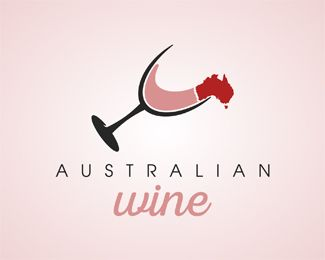 australian wine Logo design - I love it!<br /><br />Colors and text can be changed for free. Price $400.00