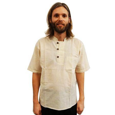 Online Katoenen shirt mannen Nepal - wit kopen bij Patipada ✓Bijzondere, hoge kwaliteit Katoenen shirt mannen Nepal - wit voor een goede prijs ✓ Bestel direct online!