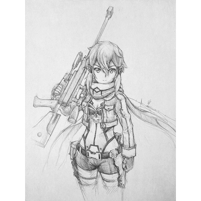 Artist: Itsbirdy | Sword Art Online | Sinon