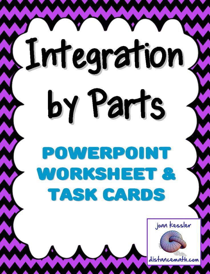 "Calculus Integration by Parts * PowerPoint * Task Cards*  This bundle is designed for use with AP Calculus BC and College level Calculus 2. It is part of the Techniques of Integration unit. Included: * Animated PowerPoint (2003 compatible) with 30 slides. EDITABLE. * Handout for students explaining ""Solving for the unknown integral"" * Task Cards: 7 task card which match the problem set * Problem set which can be used for class work, HW, or as task cards *Answer key"