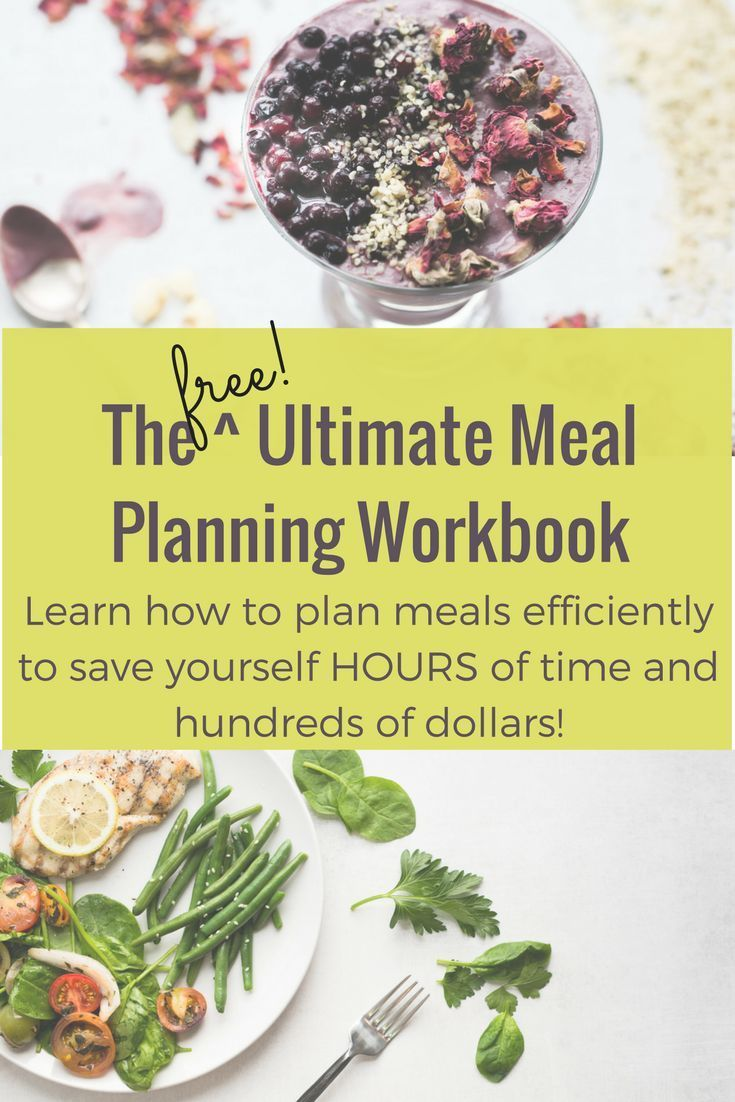 Grab this FREE workbook to slay your meal planning stress once and for all!