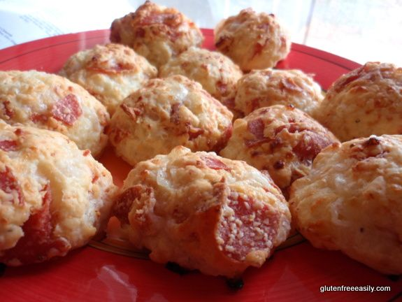 "Pizza Bombs!!! … Gluten-Free Pao de Queijo ""Chebe-Style"" Pizza Rolls from Gluten-Free Easily"