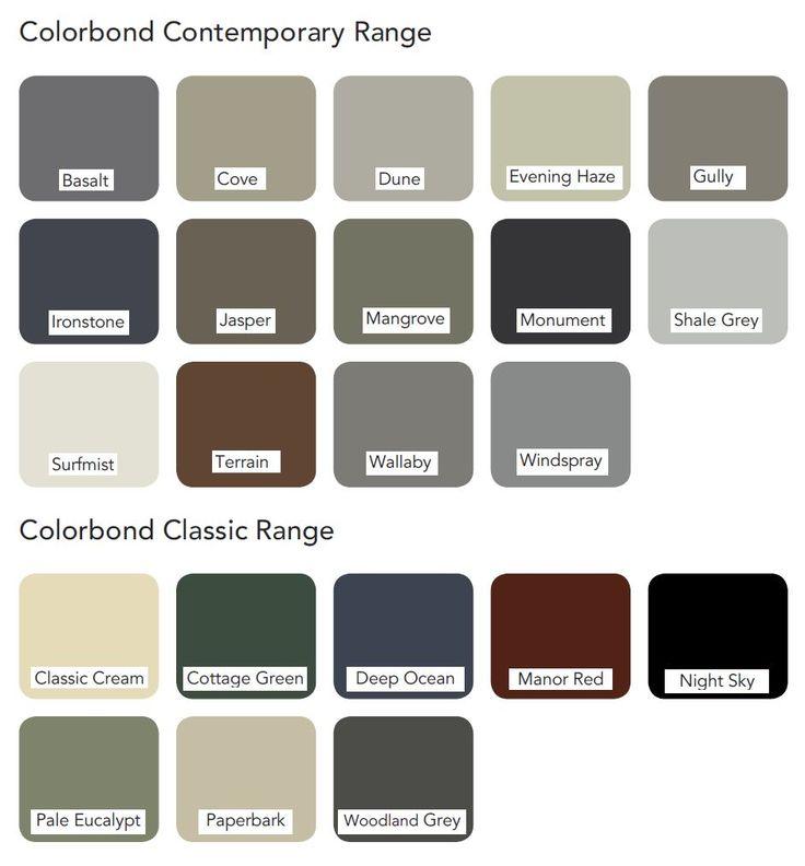 Colorbond roof colours roofcolours l roof colours l - Colorbond exterior colour schemes ...