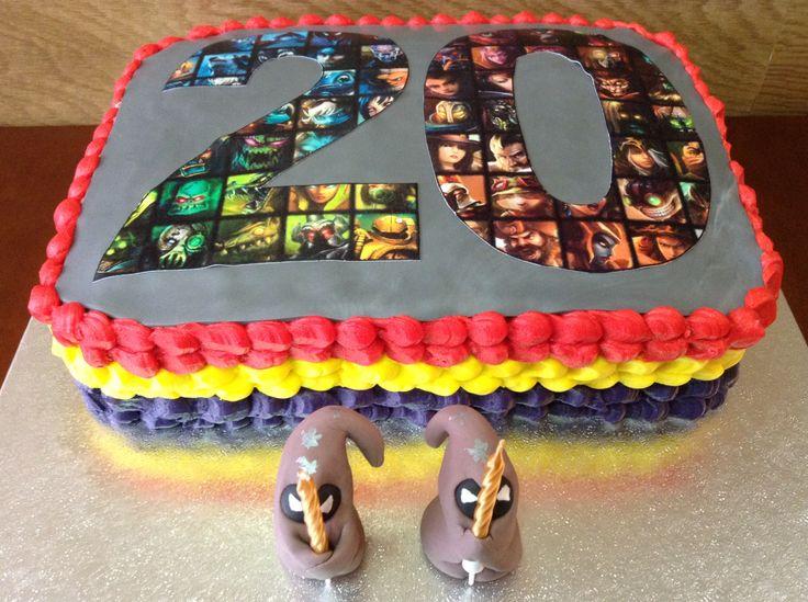 Rainbow cake de League of legends para el 20 cumpleaños de mi sobrino. Felicitats!