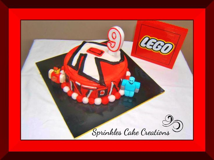 Roblox Cake with the Birthday Boy's character and his best ...