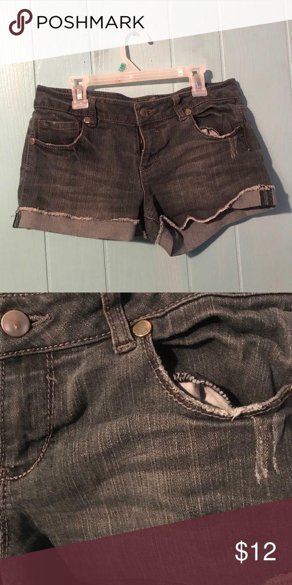 Black Jean Shorts BlackGray Jean Shorts from Forever21 Forever 21 Shorts Jean Shorts