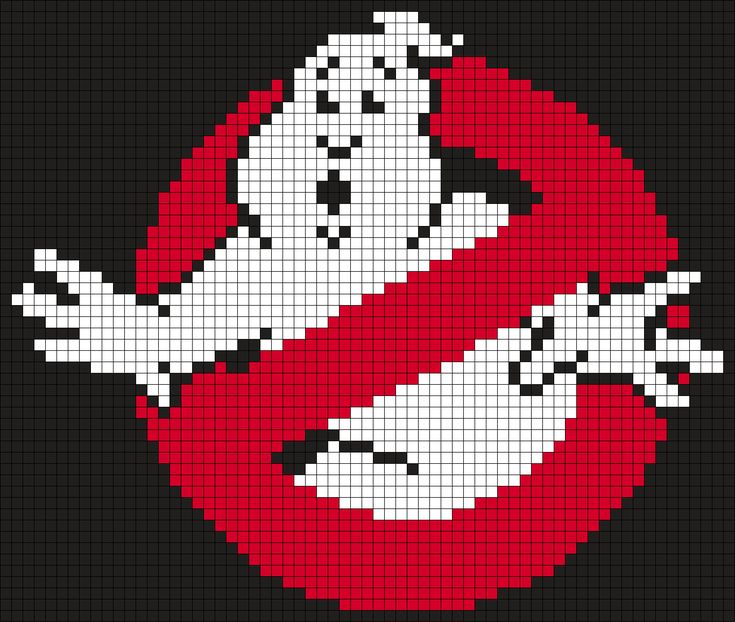 Ghostbusters Logo (Square) Perler Bead Pattern / Bead Sprite