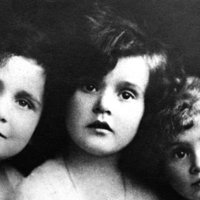 Zsa Zsa Gabor. The 6-year-old was photographed with her sisters in their native Budapest, 1923