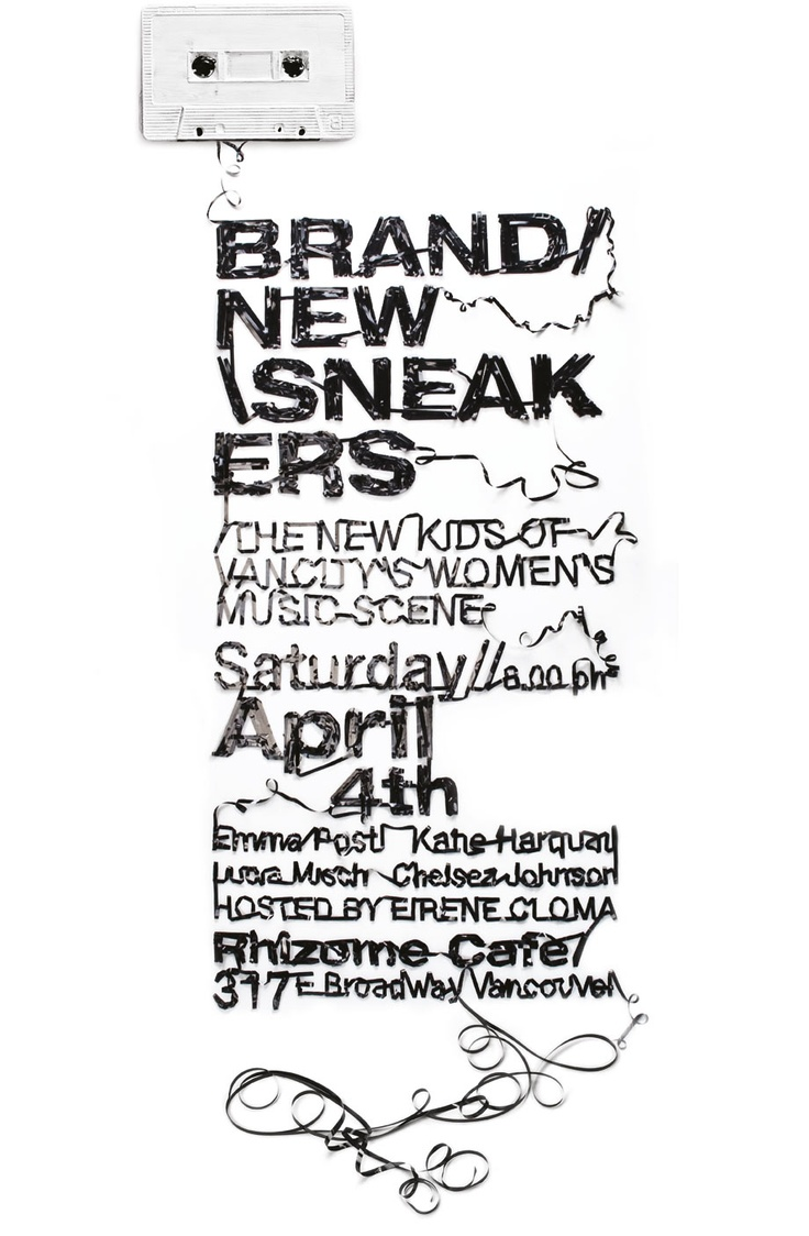 brand new snaekers poster: Sneakers Posters, Posts Full, Posters Vancouver, Typography Sense, Typography Prints, Concert Posters, Snaeker Posters, Concerts Posters, Mixed Tape