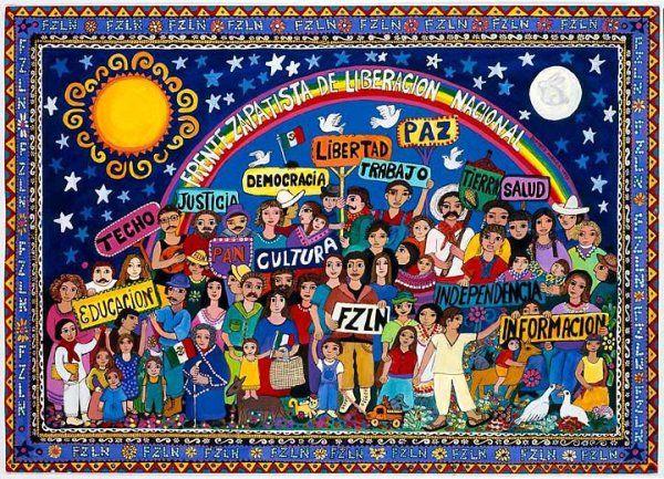 'EZLN', Beatriz Aurora / EZLN, pintura, arte zapatista