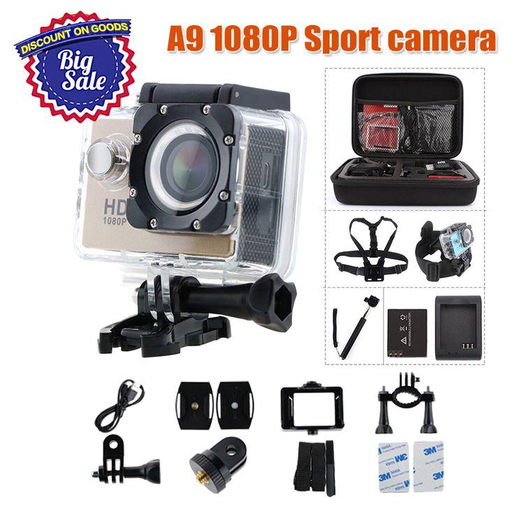 action camera A9 1080P sport cam Full camaras deportivas HD waterproof go pro hero 3 Outdoor  Mini camcorders Video Camera