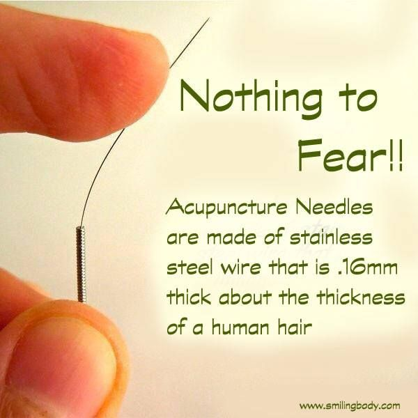 Wondering about acupuncture needles?