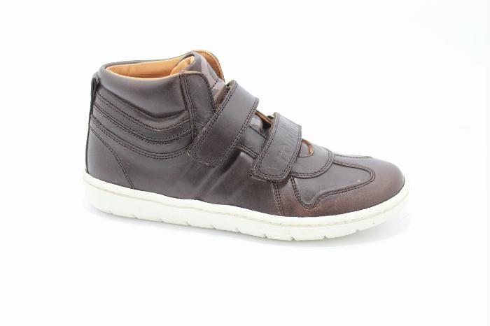 Half hoog klittenband schoen van het merk Rondinella, Bruin leer