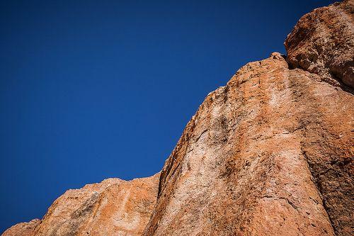 abstracción de roca y firmamento