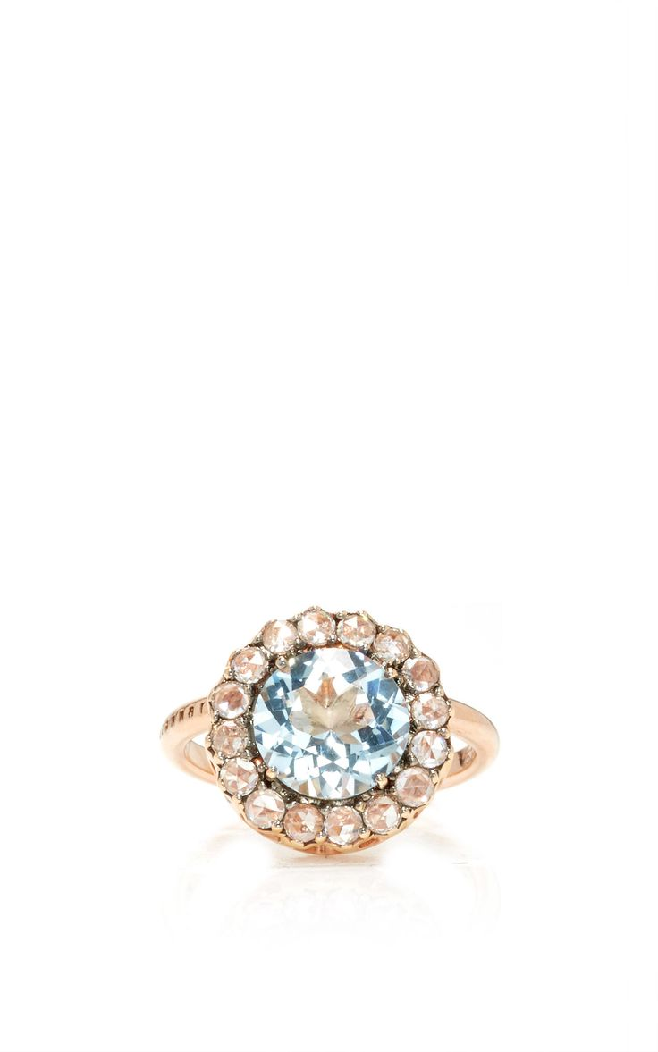 Beirut Ring with Aquamarine by SELIM MOUZANNAR for Preorder on Moda Operandi