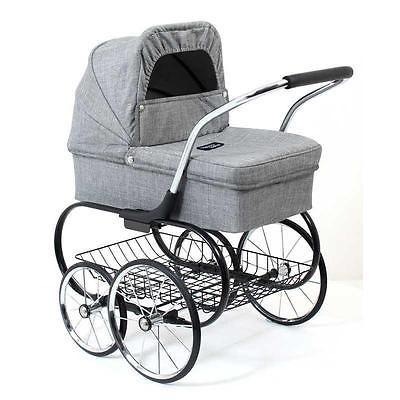 Valco Baby Royale Dolls Pram - Grey Marle