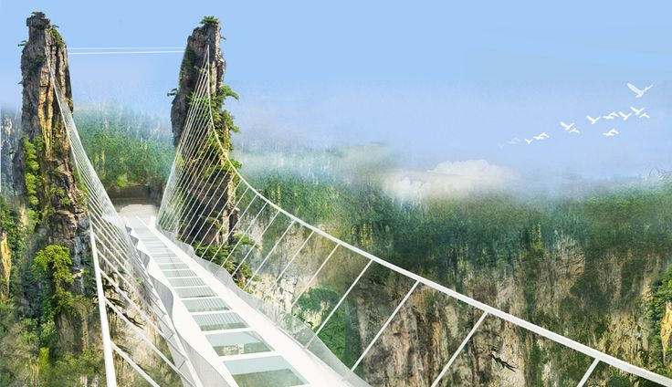 THE WORLD'S HIGHEST AND LONGEST GLASS BRIDGE IS OPENING IN CHINA NEXT MONTH