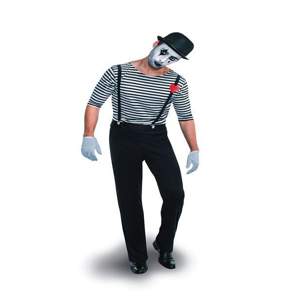 DisfrazMimo, disfraz de mimo hombre. Te convertirá en un auténtico Payaso de la comedia italiana del siglo XVI. En tus Fiestas Temáticas o en Carnavales serás el mimo más divertido.Este disfraz es ideal para tus fiestas temáticas de disfraces de payasos del circo,bufones y arlequines,mimo para hombre adultos.