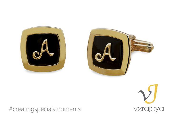 Gemelos con tus iniciales de Verajoya #moda #hombre